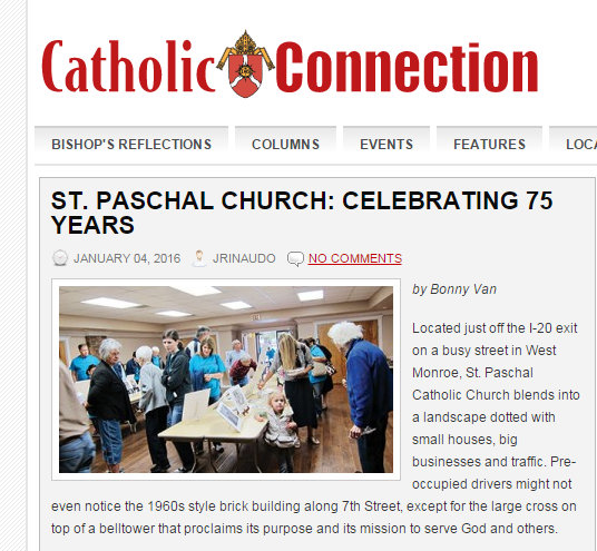 SPCC-Celebrating-75-Years Catholic-ConnectionJan2016