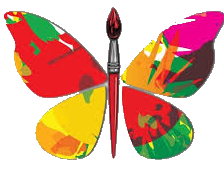 butterfly paintbrush T
