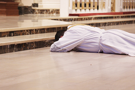 Holy orders trombetta prostrate